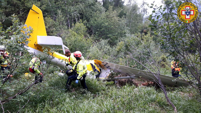 Ultraleggero disperso in Valtellina: è precipitato a Edolo, due morti