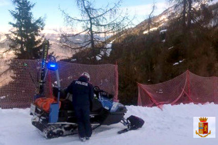 /incidente sugli sci, aprica